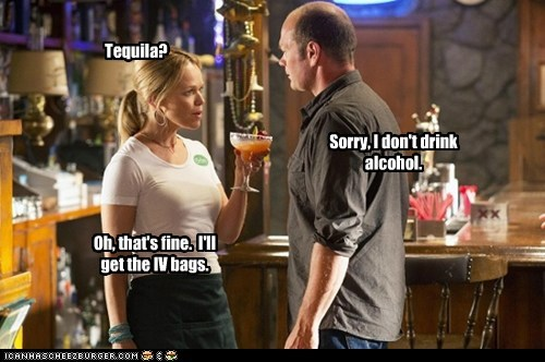 true blood dont-drink alcohol iv bag tequila Blood vampires Chris Bower Andy Bellfleur Lauren Bowles Holly Cleary - 6584020480