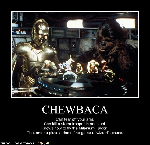 Star Trek,chewbacca,arm,smart,c3p0,chess,stormtrooper