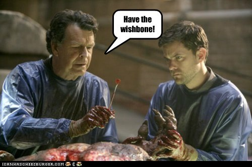 joshua jackson,peter bishop,Fringe,Walter Bishop,John Novle,wishbone,body,surgery,meat