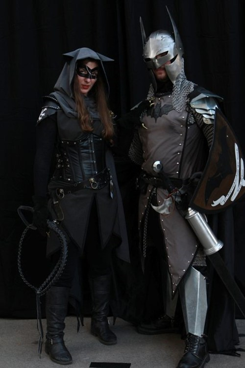 medieval batman catwoman cosplay - 6584337408