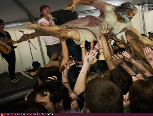 crowd surfing,god,painting