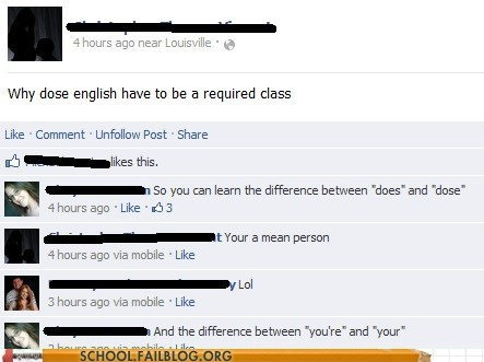 does dose english good question grammar your youre - 6584529920