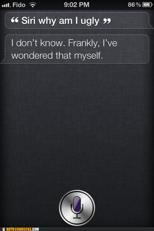 mean siri,siri,why am i ugly,wondered