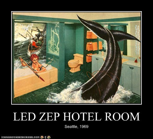 bathroom,hotel,led zeppelin,mudshark,seattle