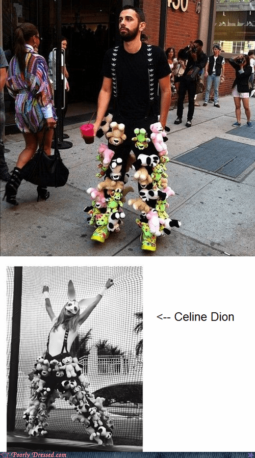 celine dion same outfit who wore it better