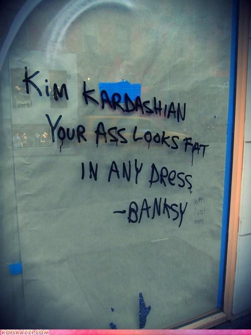 banksy,funny,kim kardashian