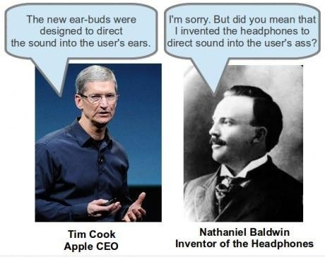 apple,earbuds,headphones,RIP Steve Jobs,sound,tim cook,users,what