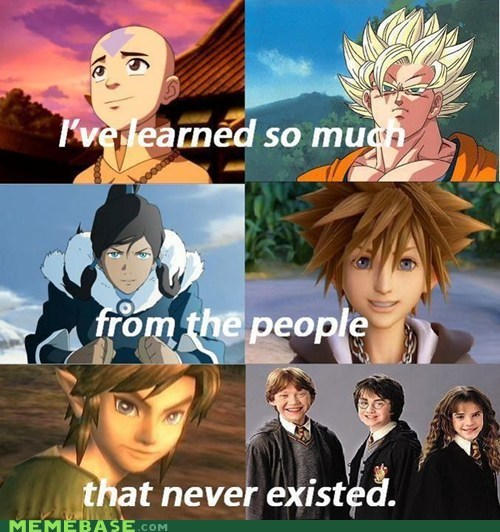 fake people,goku,link,video games,yolo