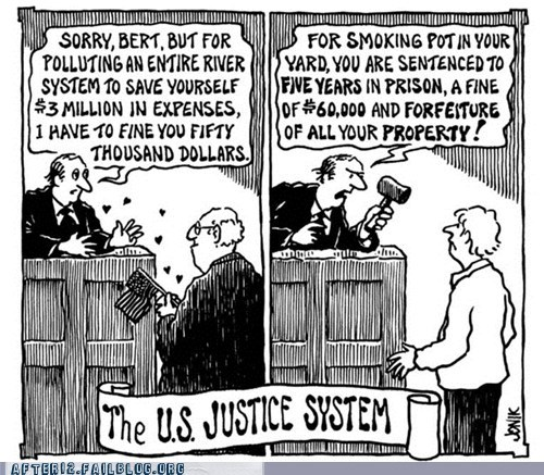 double standard,drugs,marijuana,US Justice system
