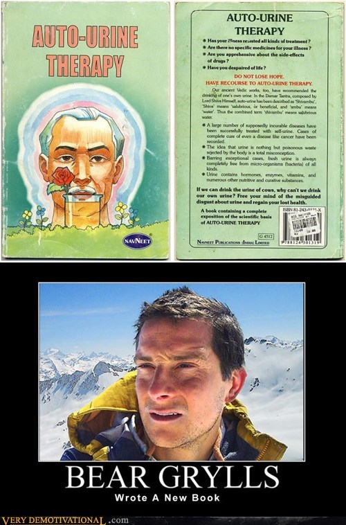 auto urine therapy,bear grylls,so gross
