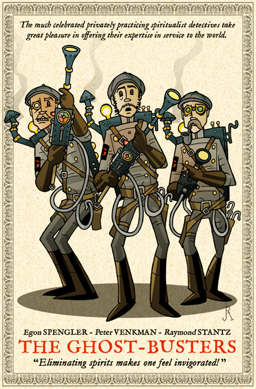 egon spengler Fan Art Ghostbusters ghosts peter venkman raymond stantz spirits Steampunk