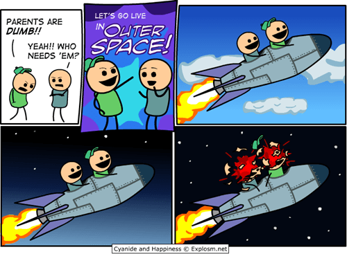 comic,outer space,parents