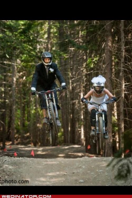 bikes bmx couple helmets track