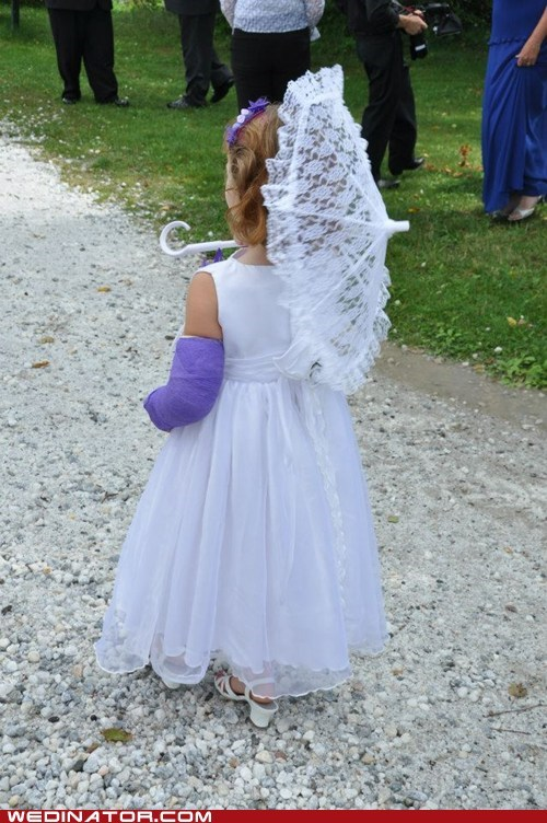 boo boo cast flower girl kid lavender parasol purple