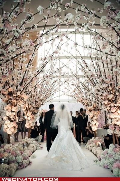 aisle decor flowers snow winter - 6585770752