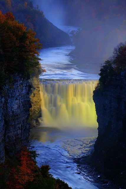best of week Hall of Fame new york pretty colors river waterfall - 6586087424