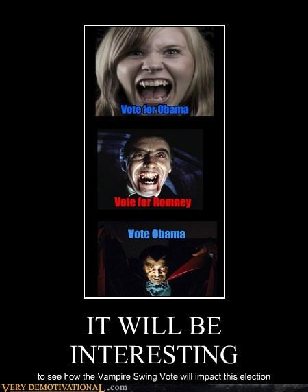obama Romney vampire vote wtf - 6586321664