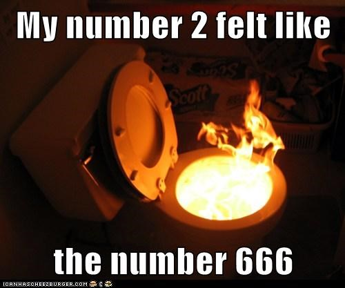 My number 2 felt like  the number 666
