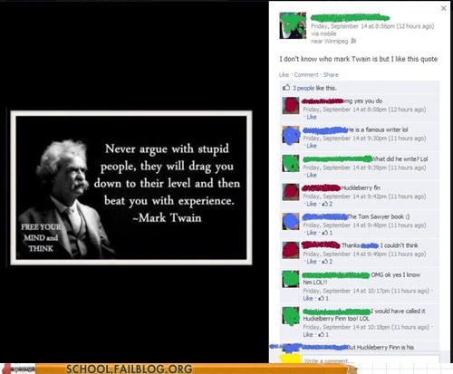 kids these days mark twain seriously stupid people wat