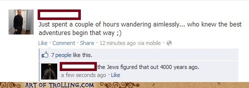 facebook jews walking