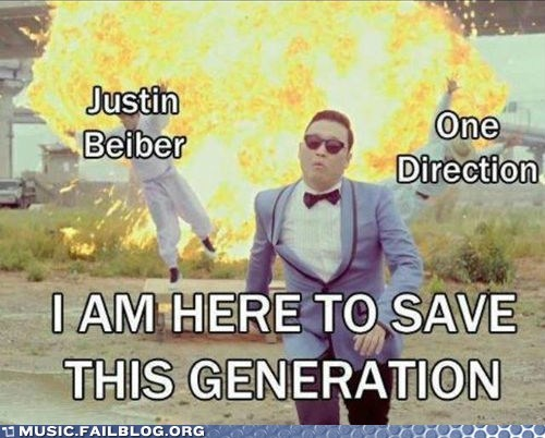 gangnam,justin beiber,one direction,psy