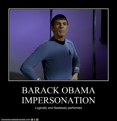 BARACK OBAMA IMPERSONATION Logically and flawlessly performed