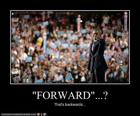 """FORWARD""...? That's backwards..."