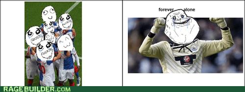 forever alone,goalie,goalkeeper,soccer