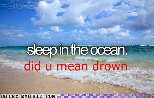 drowning,hipster edit,ocean,sleep