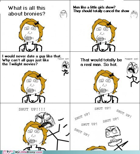 Bronies punch Rage Comics shut up twilight
