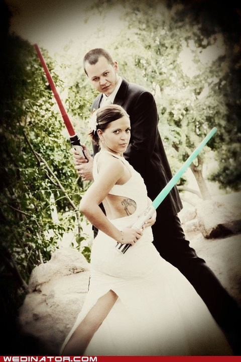 Battle couple lightsabers Movie sci fi star wars