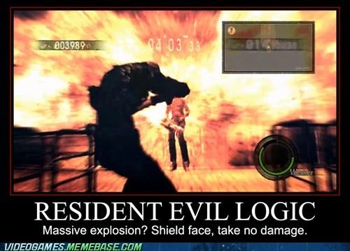 explosion resident evil video game logic - 6589129728