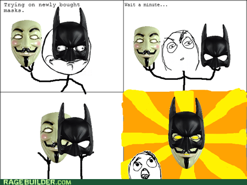 anonymous Guy Fawkes masks batman - 6589226496