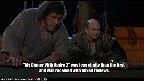 """My Dinner With Andre 2"" was less chatty than the first, and was received with mixed reviews."