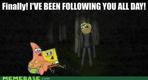 following,slenderman,SpongeBob SquarePants