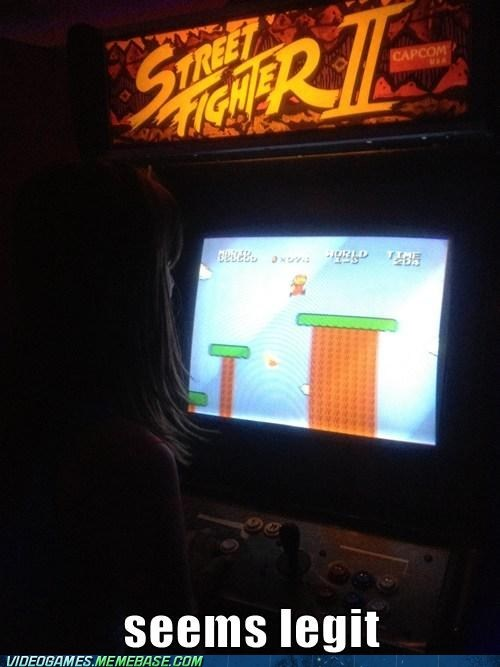 arcade mario seems legit street fighter II