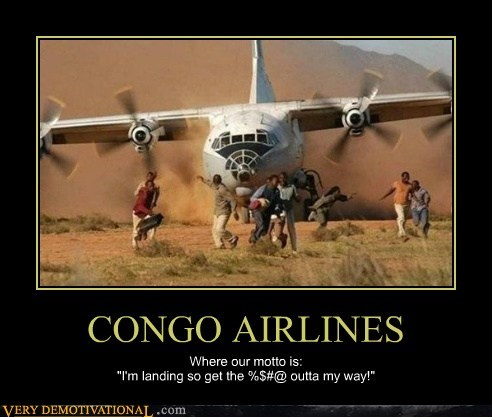 airline congo terrible pilots