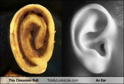 cinnamon roll ear funny TLL - 6590446336