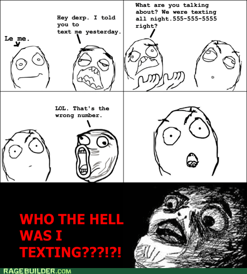 raisin face,texting,wrong number