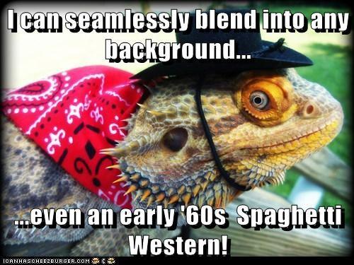iguana lizard background spaghetti western 1960s blend camouflage - 6590857472