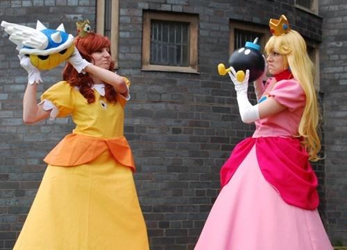 cosplay princess daisy princess peach Super Mario bros video games - 6590972928