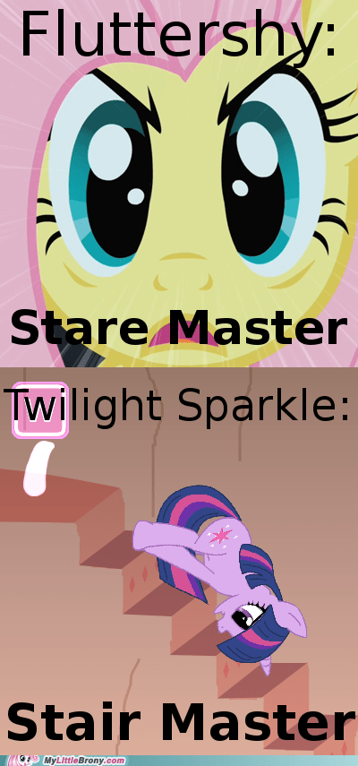 fluttershy,I see what you did there,stare,twilight sparkle