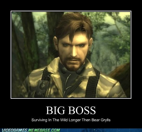 bear grylls,big boss,metal gear solid