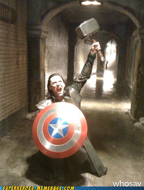 loki,Thor,hammer,captain america,avengers