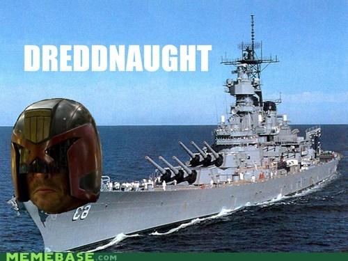 boat,dreadnaught,dredd,homophone,judge dredd,literalism,surname