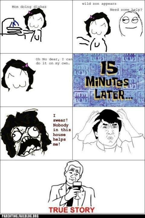 helping mom,Rage Comics