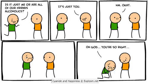 cyanide and happiness,harsh realizations,just you,youre-right