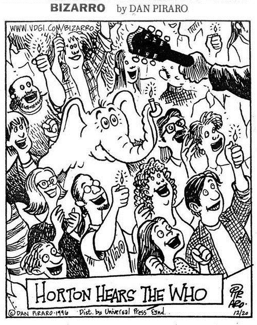comic,dr seuss,horton hears a who,rock concert,the who