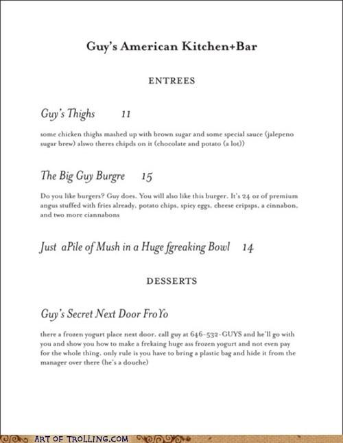 menus Guy Fieri - 6591644672