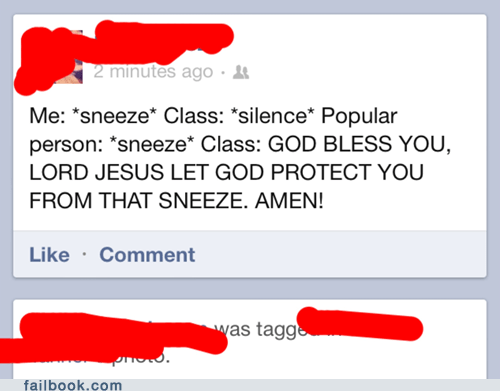 bless you,popular kids,school,School of FAIL,sneeze,sneezing